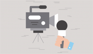 corporate video production company grey microphone